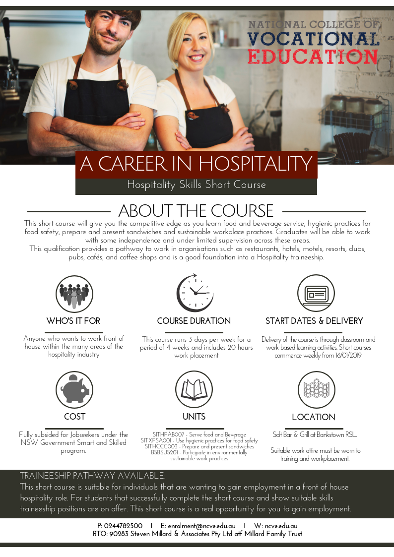 Hospitality Short Course